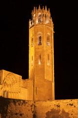 Tower of the Seu Vella at Night