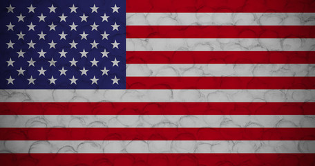 USA flag on fragment of concrete wall textured