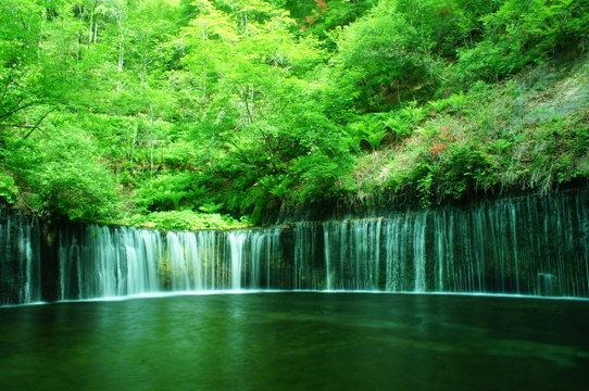 白糸の滝 軽井沢 長野 白糸 滝