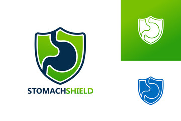 Stomach Shield Logo Template Design Vector, Emblem, Design Concept, Creative Symbol, Icon