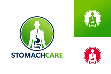 Stomach Care Logo Template Design Vector, Emblem, Design Concept, Creative Symbol, Icon