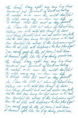 Undefined text english Handwritten letter Handwriting Calligraphy