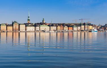 Garden Poster Scandinavia Cityscape of Stockholm. Gamla Stan