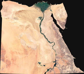 Large (8,3 MP) satellite image of Egypt. Country photo from space. Isolated imagery of Egypt. Elements of this image furnished by NASA.