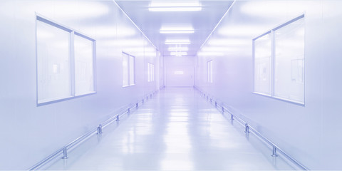 modern interior science laboratory or factory background
