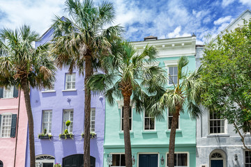 Rainbow Row in Charleston South Carolina