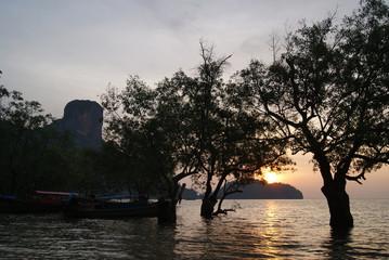 Sunrise over East Railay Beach in Krabi, Thailand