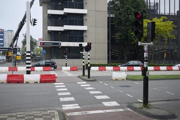 Eindhoven, Netherlands - May 16, 2018 : Modern building in Mathildelaan