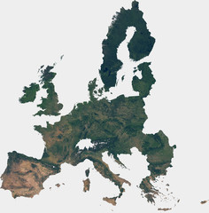 Large (140 MP) satellite image of European Union (EU). Countries photo from space. Isolated imagery of European Union. Elements of this image furnished by NASA.
