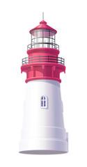 vector Lighthouse, light house, beacon maritime tower 03