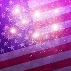 Lilac Fireworks Illustration. Vector.
