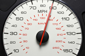 speedometer at 90 MPH
