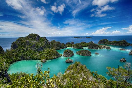 Pianemo islands at the Raja Ampat archipelago (Indonesia)