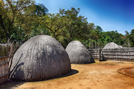 Traditional village in Swaziland