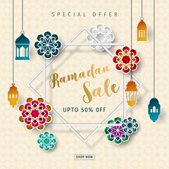 Ramadan sale design vector. Ramadan special offer.