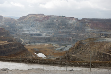 Open pit mining in Cerro Colorado, Riotinto, Huelva, Spain