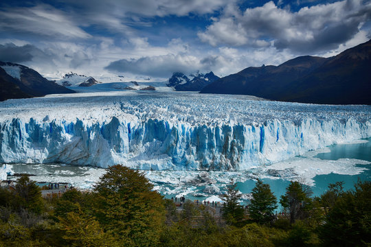 The Perito Moreno glacier in southern Argentina