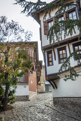 traditional houses in old town of plovdiv bulgaria
