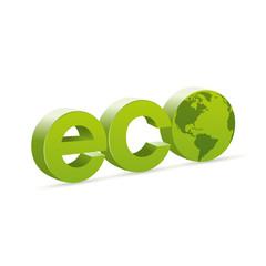 Logo ecologia con mondo America