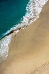 Aerial View of Empty Beach