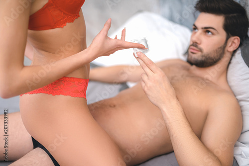 Photo of young couple having sex