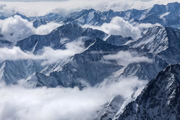 winter mountain peaks landscape