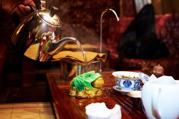 Tea ceremony in the tea house.