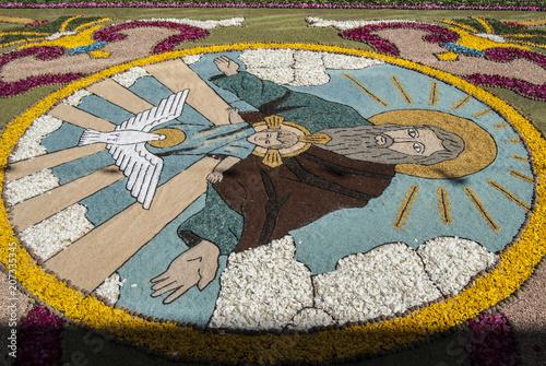 Detalle De Una De Las Alfombras Del Corpus Christi De Ponteareas
