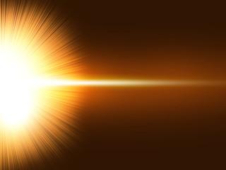 放射 閃光 放射光 炸裂 宇宙 光線 光り ゴールド