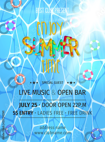 summer party invitation template invitation pool and beach party