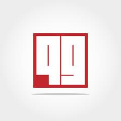Initial Letter QG  Logo Template Vector Design