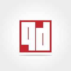 Initial Letter QD  Logo Template Vector Design