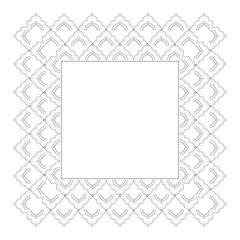 Indian Filigree Dotted Ornament - Openwork Square Frame