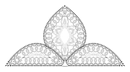 Indian Filigree Dotted Ornament - Delicate Lotus Flower