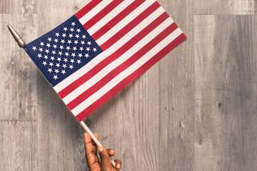 American Flag Flat Lay