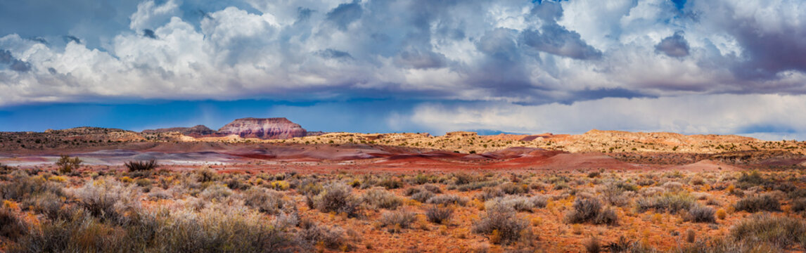 Cathedral Valley, Capitol Reef National Park, Utah. Cathedral Valley, in the northern area of Capitol Reef National Park, has some of the most stunning views around. A rain squall seen on the horizon