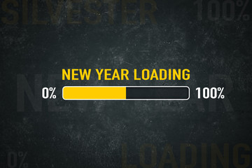 Screen new year loading