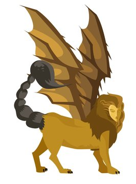 evil mythology giant manticore
