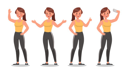 Fitness woman doing exercise character vector design. Healthy lifestyle no2