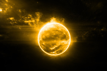 The sun in space fantasy