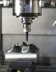 CNC machining center cutting mold
