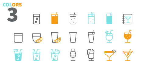 Drinks Food UI Pixel Perfect Well-crafted Vector Thin Line Icons 48x48 Ready for 24x24 Grid for Web Graphics and Apps with Editable Stroke. Simple Minimal Pictogram Part 2-2