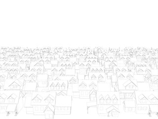 Background with wireframe houses