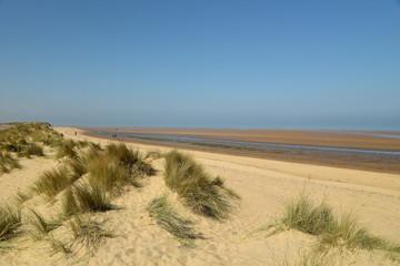 Path through sand dunes on Holkham Beach in Norfolk