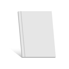White realistic blank book