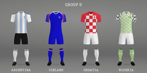 Set of football kit