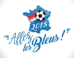 Allez les bleus - coupe du monde 2018 de football