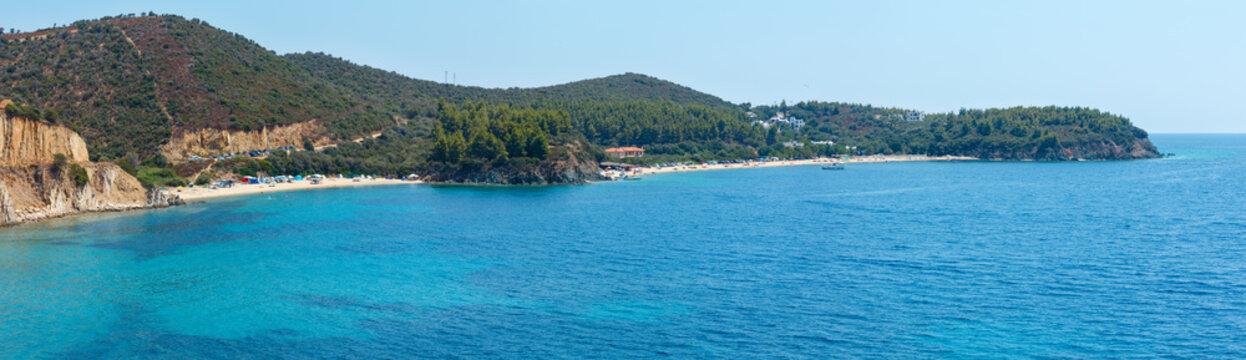 Aegean coast panorama, Sithonia, Greece.