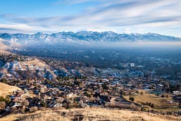Aerial view of Salt Lake City Utah