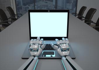 Robot Hands Business Room Notebook